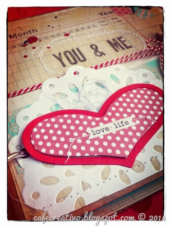 cafe creativo - sizzix big shot - valentiner - mini album