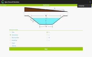 Screenshot of Open-Channel Calculator