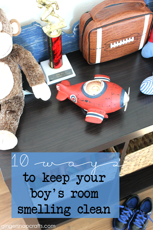 10 Ways to Keep Your Boy's Room Smelling Clean at GingerSnapCrafts.com  #WicklessWonders #CollectiveBias #ad