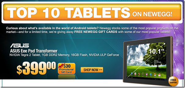 Newegg.com   It's Tablet Time  See our Top 10 Tablets