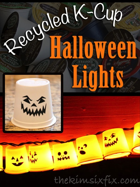 Recycled Kcup halloween lights