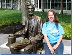 2289 Pennsylvania - Gettysburg, PA - Gettysburg National Military Park - Visitor Center - Abraham Lincoln statue & Karen