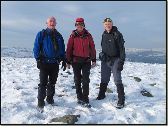 Alan, Barbara and Martin, on Top of Leach, 474 metres