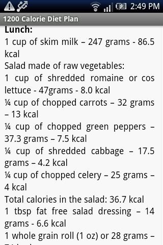 1200 Calorie Diet Plan- screenshot