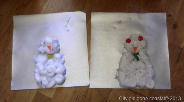cotton wool snowmen