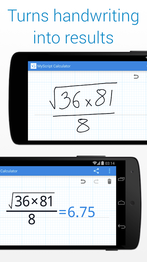 MyScript Calculator - screenshot