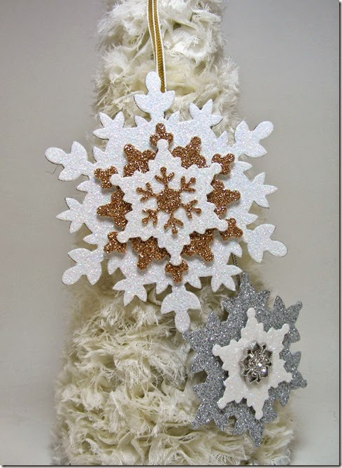 LeAnne Pugliese WeeInklings Paper Players 225 Glimmer Paper Snowflake Ornaments Stampin Up
