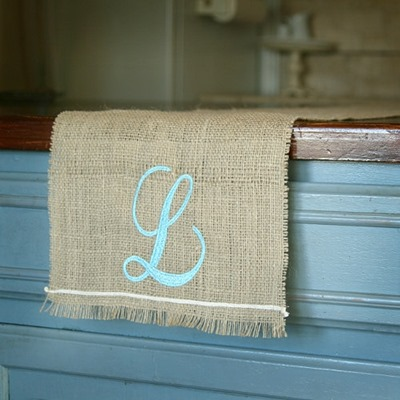 lisa pennington burlap runner