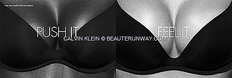 CALVIN KLEIN UNDERWEAR FALL WINTER 2012 2013 WOMEN PUSH POSITIVE new push up BRA LARA STONE cleavage comfort superior lift natural, seamless look classic black, bare nude noir, ivy league, wild flower  bold catwalk print