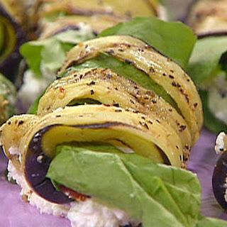 Stuffed roasted aubergine rolls (Greece)