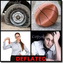 DEFLATED- 4 Pics 1 Word Answers 3 Letters