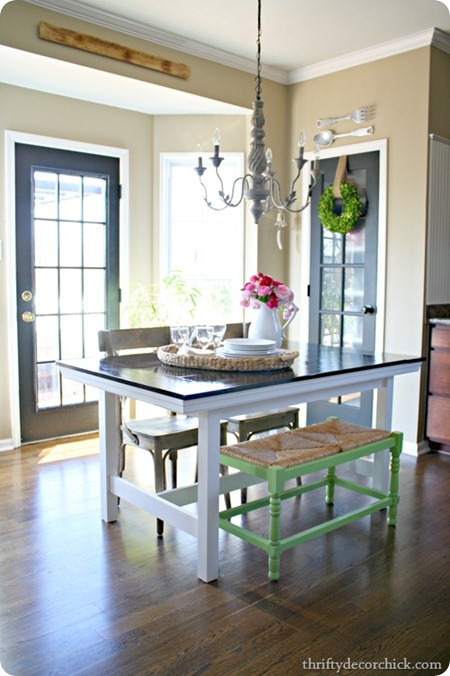 DIY farmhouse table IKEA hack