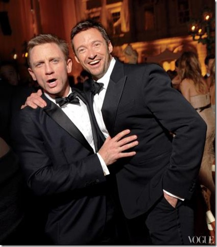 Daniel Craig and Hugh Jackman in 2010