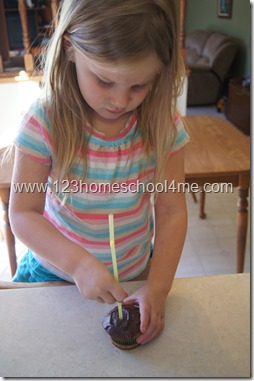Earth science experiments for kids - taking a core sample