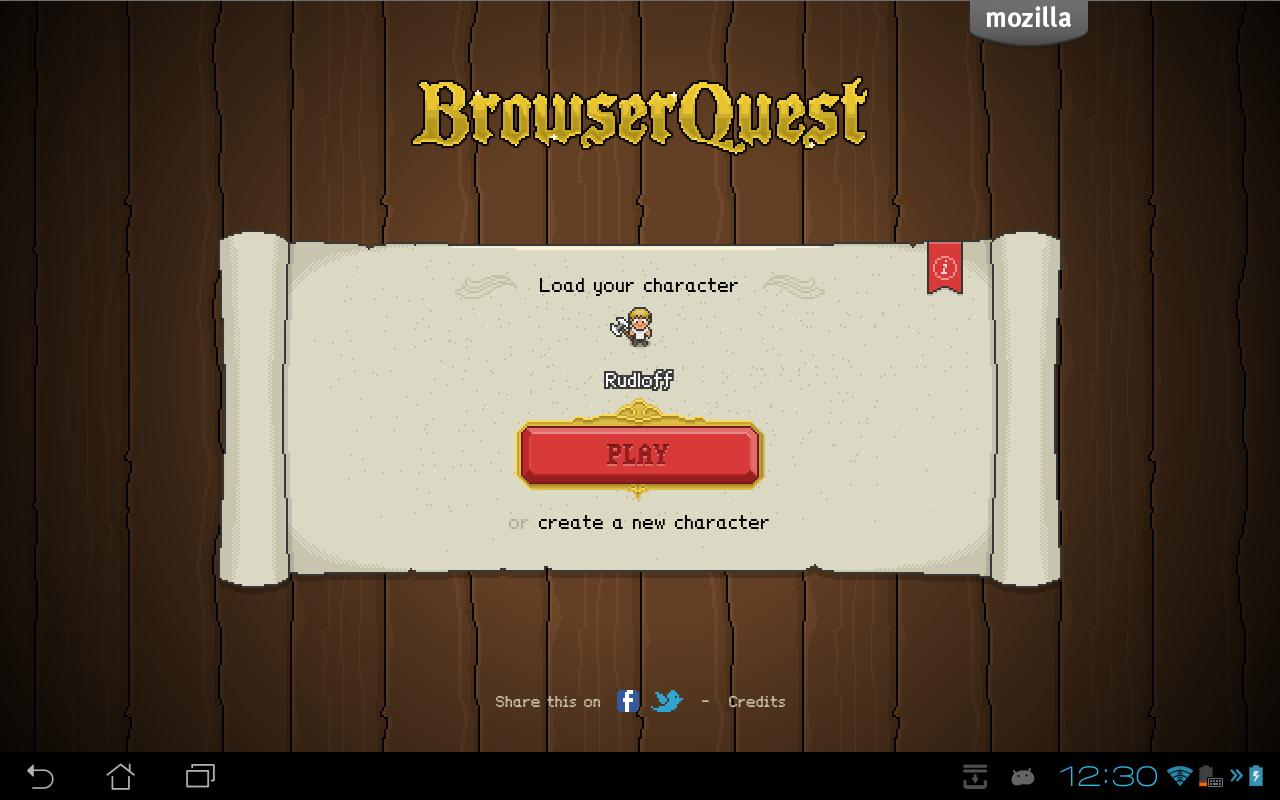 BrowserQuest- screenshot