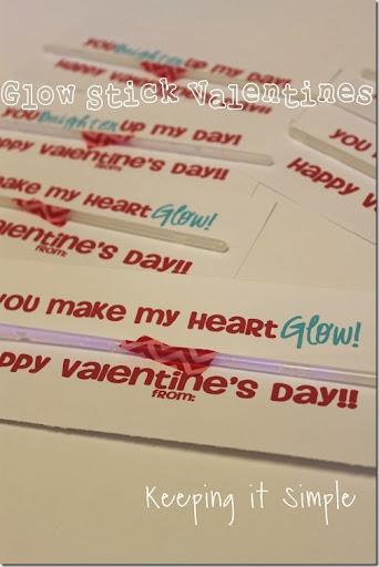 photo regarding Glow Stick Valentines Printable identify Very simple No Sweet Valentine: Shine Sticks Valentines Totally free
