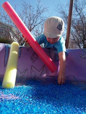 Water beads sensory play