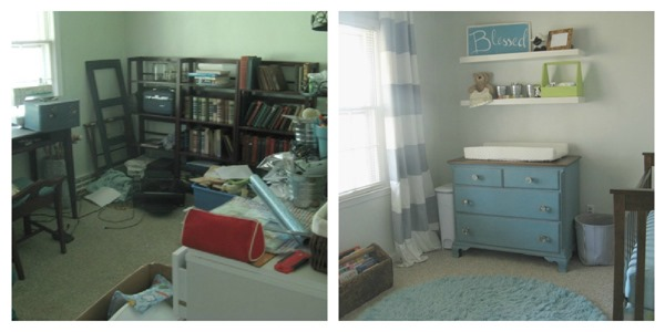 changing table before and after