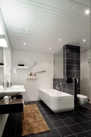 Falsos techos de aluminio en baños