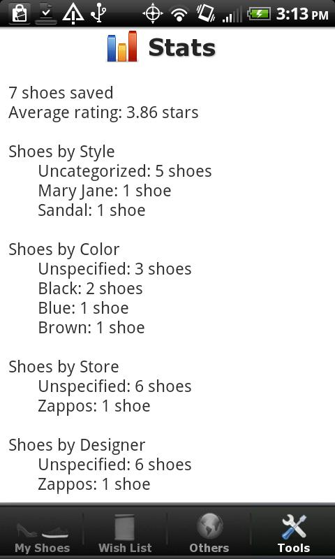 Shoe Collection - screenshot