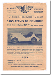 NEW-MAP BABY / ROLUX MICROCAR
