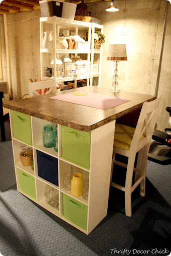 DIY craft table & DIY craft table from Thrifty Decor Chick