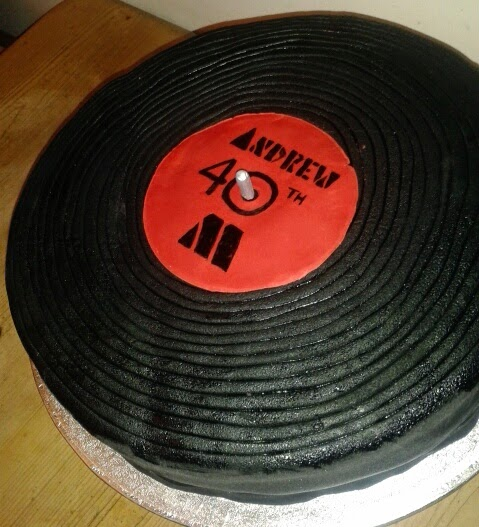 Anniething For Food 40th Birthday Record Cake
