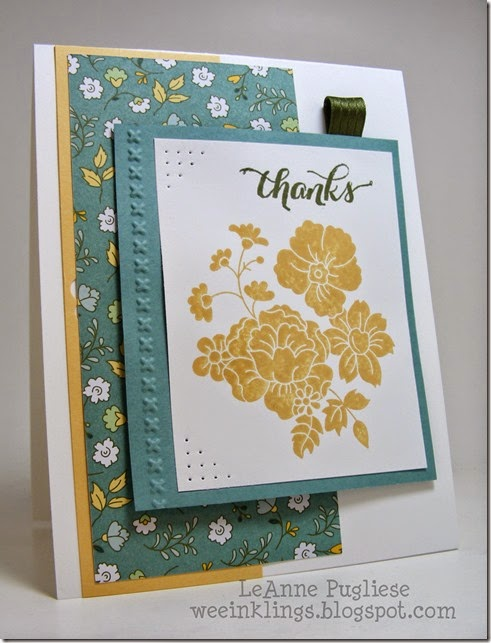 LeAnne Pugliese WeeInklings Hello Darling Another Thank You Stampin Up