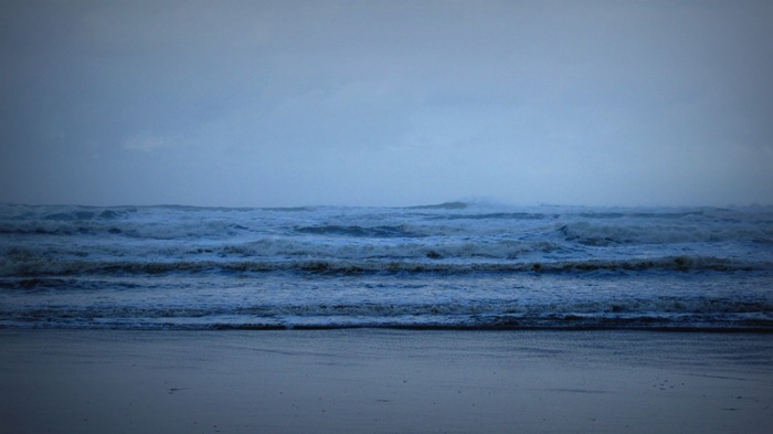 Ocean Waves on Bastendorff Beach Coos Bay Oregon