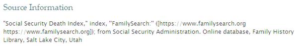 Fumanysearch. SSDI引用