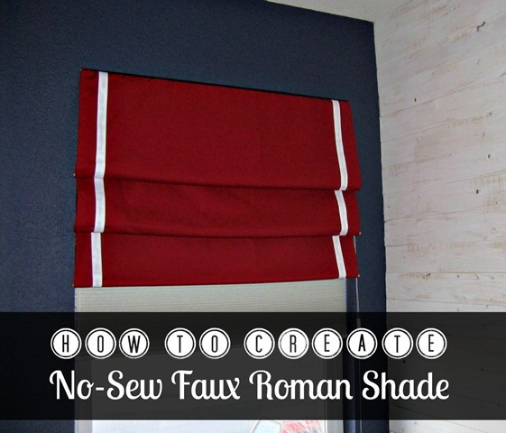how to no sew faux roman shade1