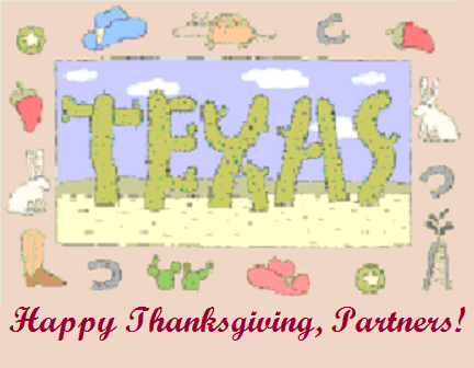 Texas Happy Thanksgiving