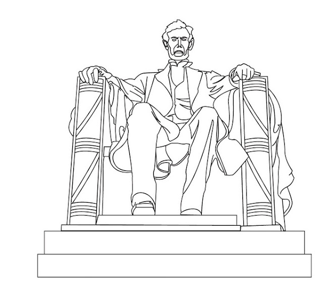 Lincoln memorial coloring page for Lincoln coloring pages