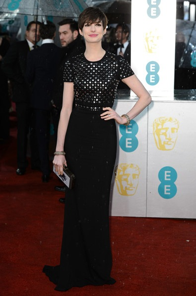 Anne Hathaway attends the EE British Academy Film Awards