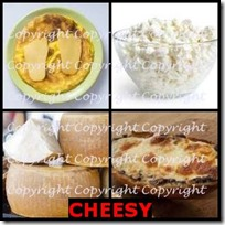CHEESY- 4 Pics 1 Word Answers 3 Letters