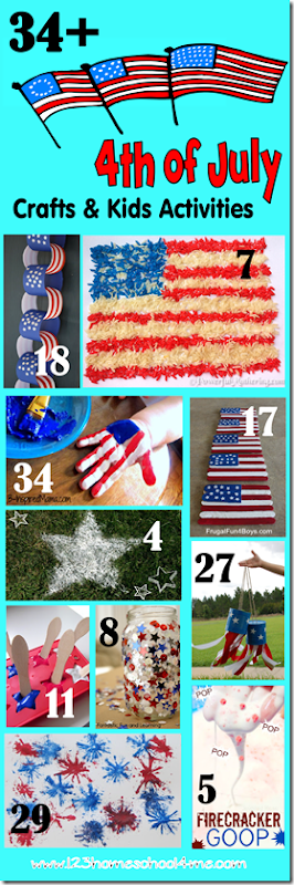 34+ 4th of July Crafts and Kids Activities