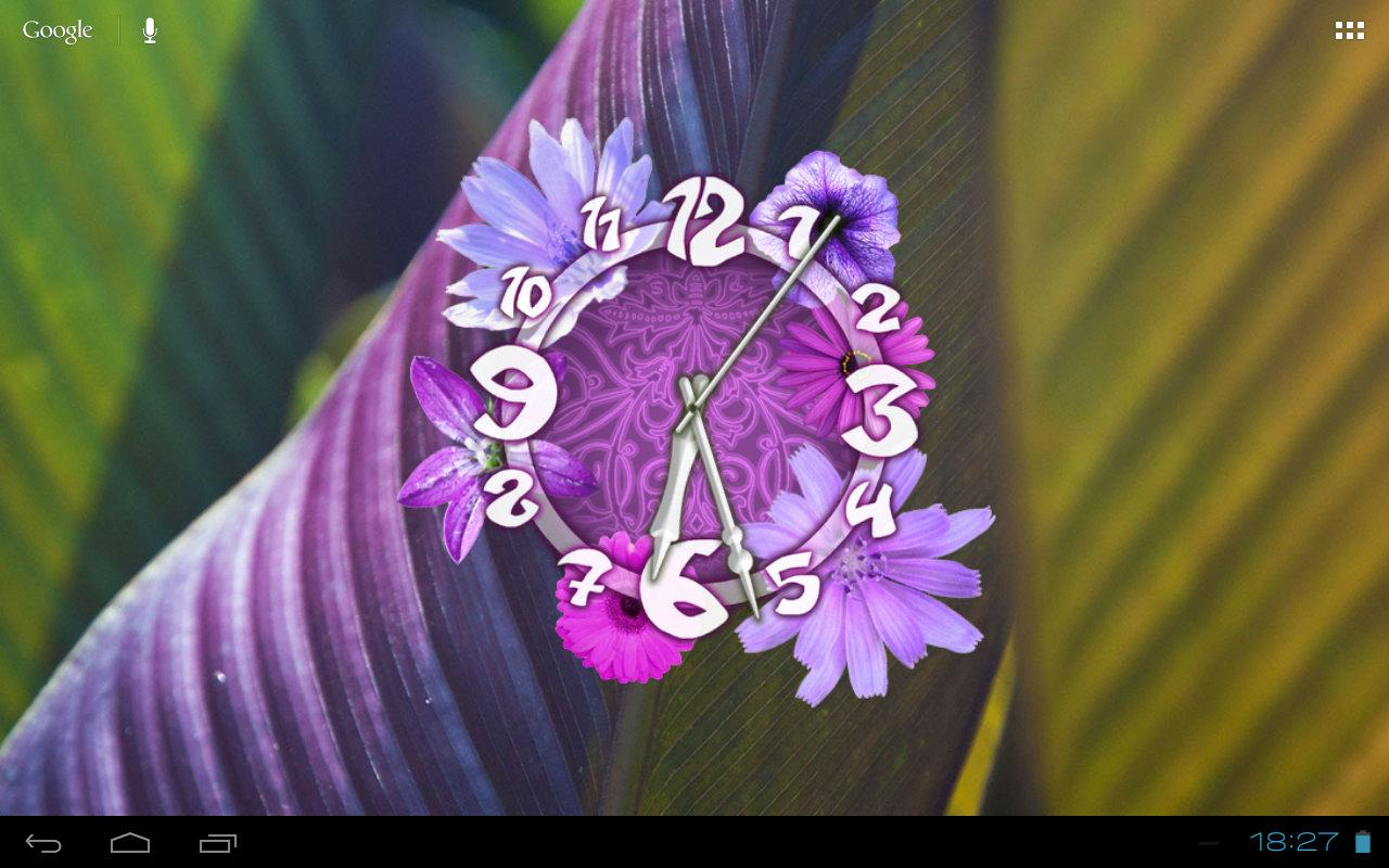 Flower Clock Live Wallpaper - screenshot