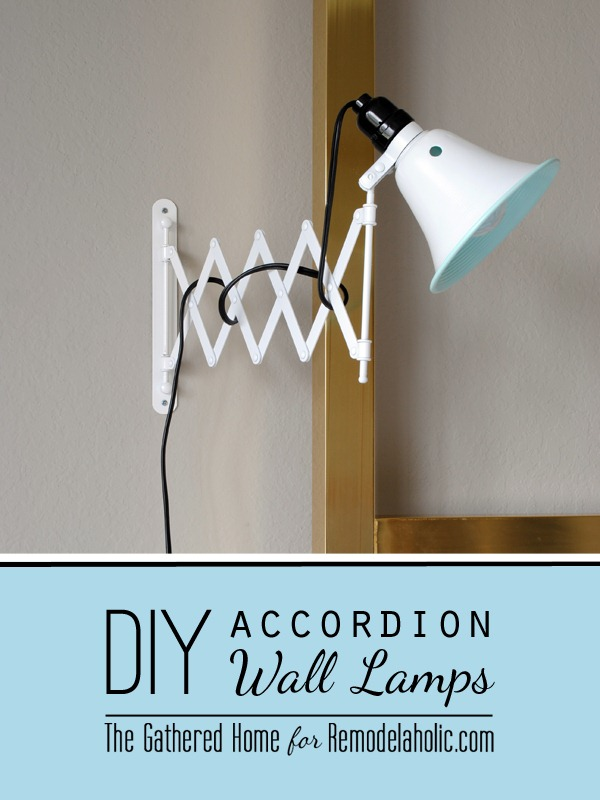 diy accordion wall lamp the gathered home for remodelaholic