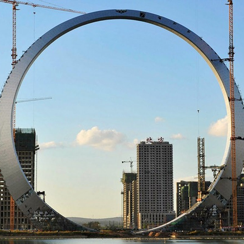'Ring of Life': A 515 Feet Ring of Steel in Fushun, China