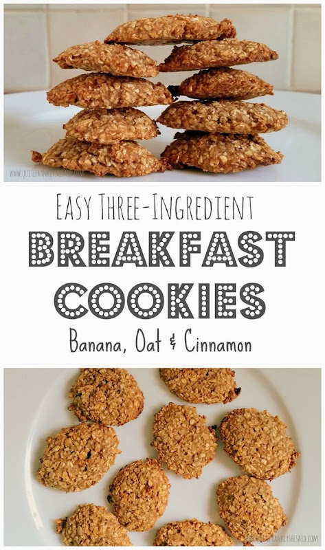 three ingredient breakfast cookies recipe banana oat cinnamon