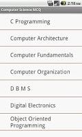 Screenshot of Computer Science MCQ
