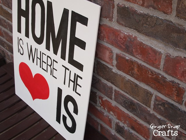 Home is Where the Heart Is #gingersnapcrafts
