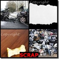 SCRAP- 4 Pics 1 Word Answers 3 Letters