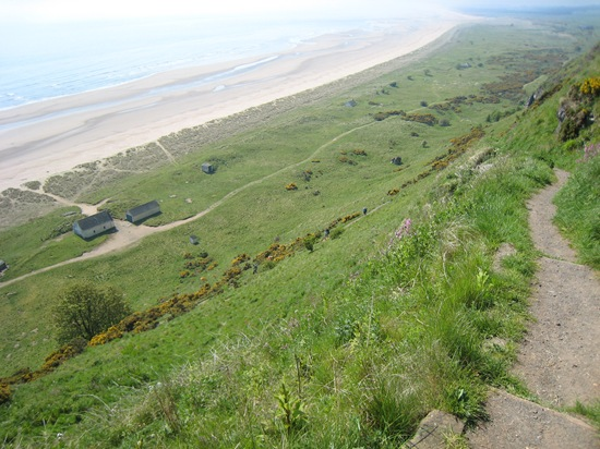 Down the cliff path at St Cyrus