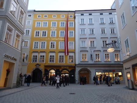 Obiective turistice Salzburg: casa lui Mozart