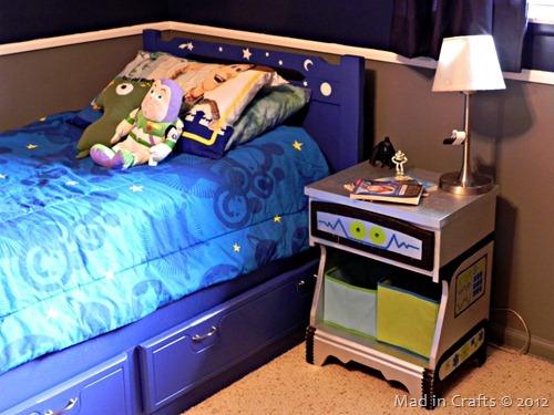 space geek bedroom side table