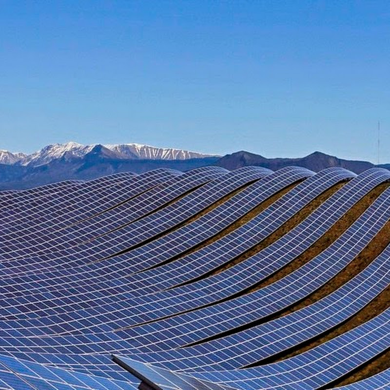 The Les Mées Solar Farm in France