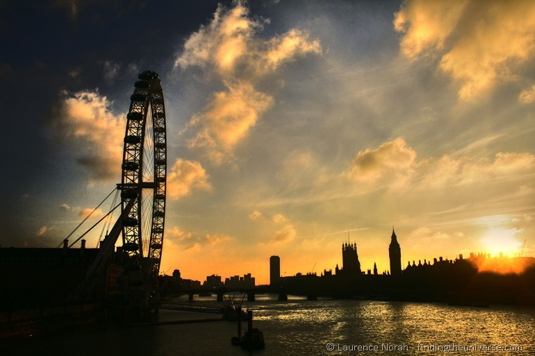 Day in London itinerary skyline sunset