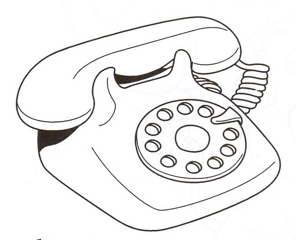 COLOREAR DIBUJOS DE TELEFONOS