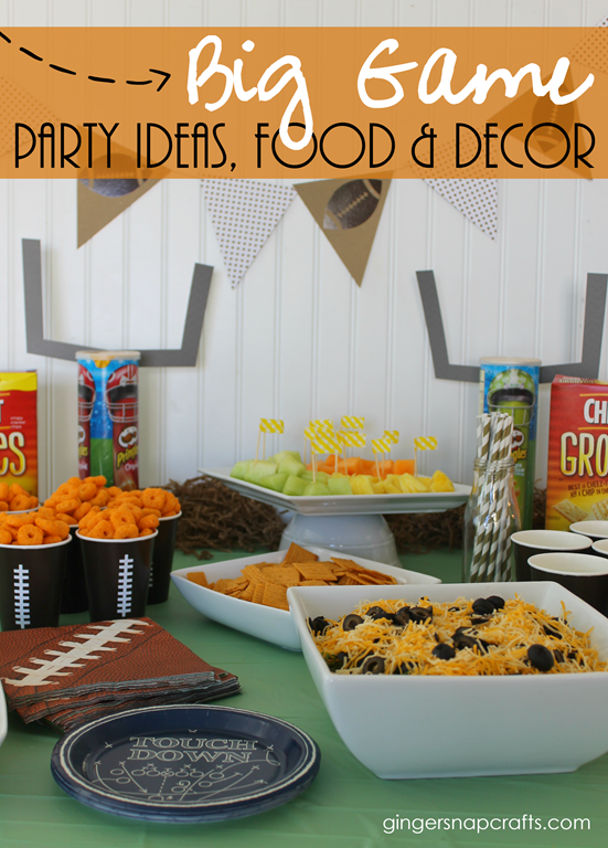 Big Game Party Ideas, Food & Decor at GingerSnapCrafts.com #ad